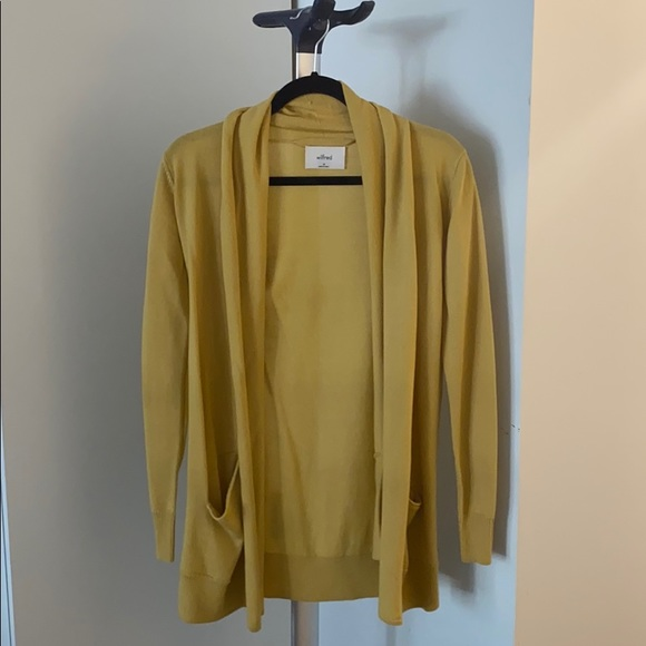 Wilfred yellow cardigan